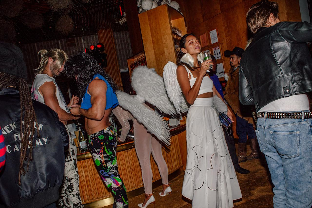 Guests attend the Halloween at the Top party hosted by The Standard Hotel at the Top of the Standard in New York City on October 26, 2019. Photograph by Maridelis Morales Rosado for W Magazine.