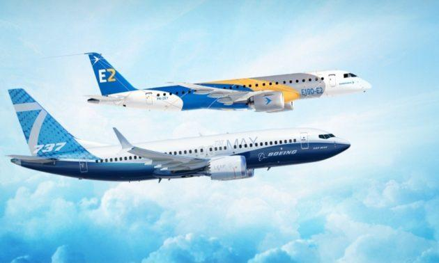 Embraer's E190-E2 and Boeing's 737 MAX 7