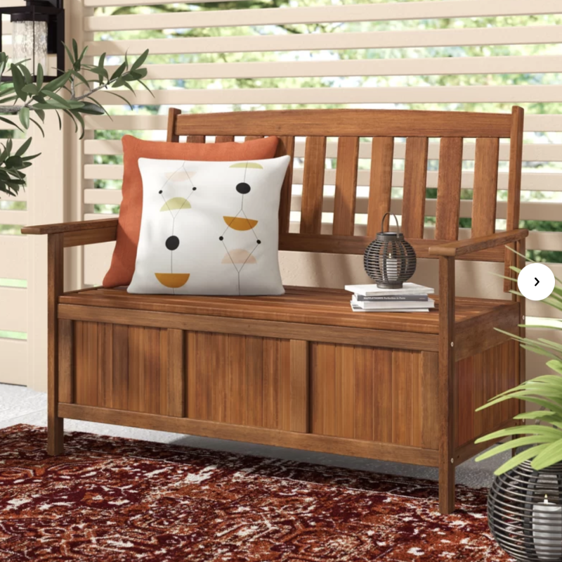 Storage and seating, all in one. (Photo: Wayfair)