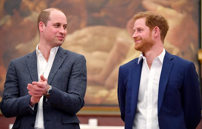 Prince William, Duke of Cambridge and Prince Harry attend the opening of the Greenhouse Sports Centre on April 26, 2018 in London, United Kingdom. (Getty)