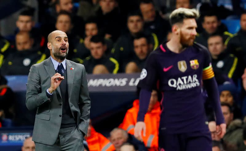 FILE PHOTO: Manchester City v FC Barcelona - UEFA Champions League Group Stage - Group C