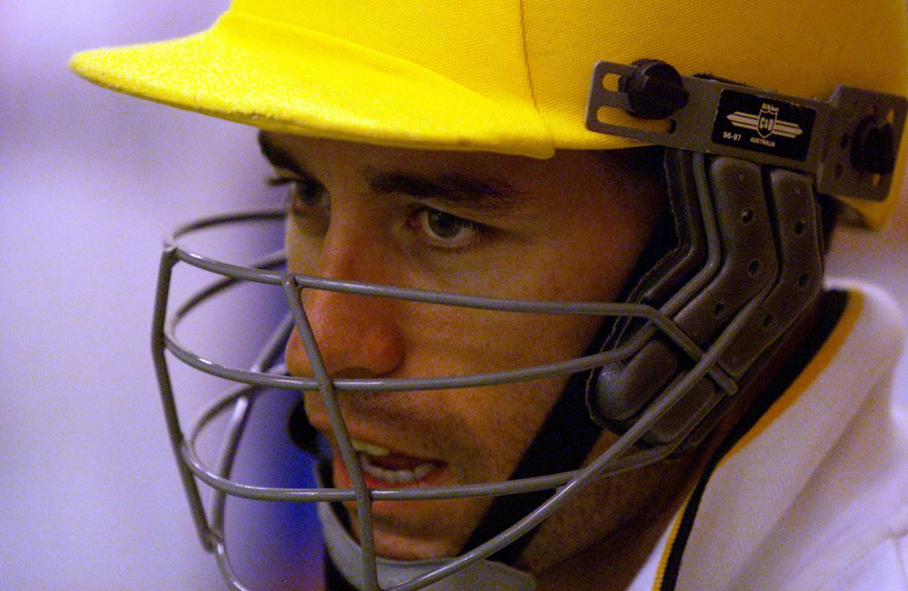 15 Feb 2000:  Michael Bevan of Australia looks on, during training at the Basin Reserve, Wellington, New Zealand x. Mandatory Credit: Hamish Blair/ALLSPORT
