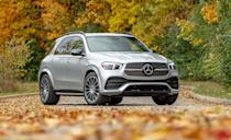 """<p>Sure the <a href=""""https://www.caranddriver.com/mercedes-benz/gle-class"""" rel=""""nofollow noopener"""" target=""""_blank"""" data-ylk=""""slk:Mercedes-Benz GLE-class"""" class=""""link rapid-noclick-resp"""">Mercedes-Benz GLE-class</a> might have the second-highest base price on the list, but it's the only one here designed to <a href=""""https://www.caranddriver.com/news/a29643972/mercedes-benz-gls-gle-bounce-mode/"""" rel=""""nofollow noopener"""" target=""""_blank"""" data-ylk=""""slk:bounce its way out of a bad situation"""" class=""""link rapid-noclick-resp"""">bounce its way out of a bad situation</a>. Unfortunately, the air suspension's party trick isn't part of the testing. The GLE-class SUV and Coupe received a five-star rating from NHTSA, and a Top Safety Pick+ from IIHS. Standard features like automated emergency braking with pedestrian detection, and blind-spot monitoring with rear cross-traffic alert. The safest way to play is to add the optional $1950 Driver Assistant Package Plus, which adds over 10 extra assistant features like adaptive cruise control, active speed-limit assist, and evasive steering assist. Adaptive high-beam assist can also be added as part of the $900 Exterior Lighting package. </p><p><a class=""""link rapid-noclick-resp"""" href=""""https://www.caranddriver.com/mercedes-benz/gle-class"""" rel=""""nofollow noopener"""" target=""""_blank"""" data-ylk=""""slk:MORE GLE-CLASS INFO"""">MORE GLE-CLASS INFO</a></p>"""