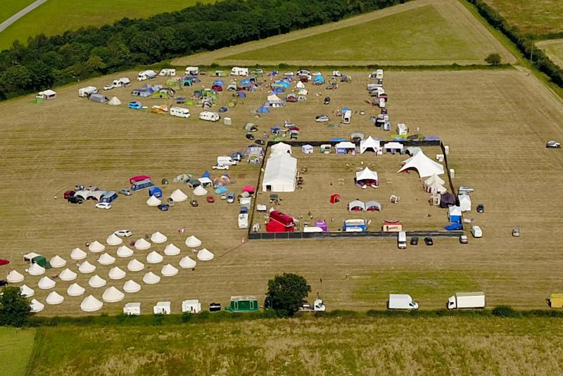 Aerial view of the 2019 Swingfields Festival (SWNS)