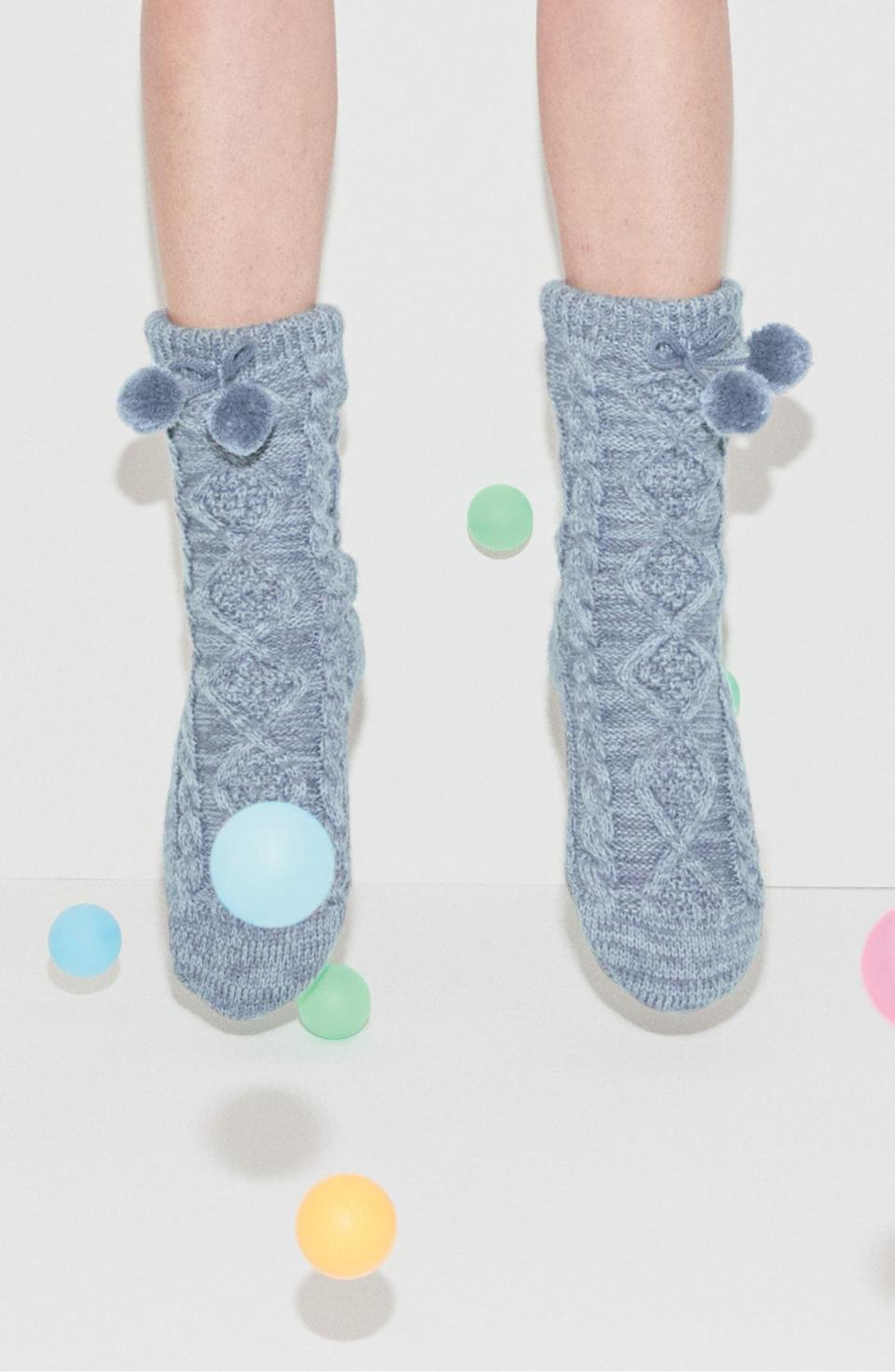 <p>These <span>UGG Pom Pom Fleece Lined Socks</span> ($50) come in a ton of colors.</p>