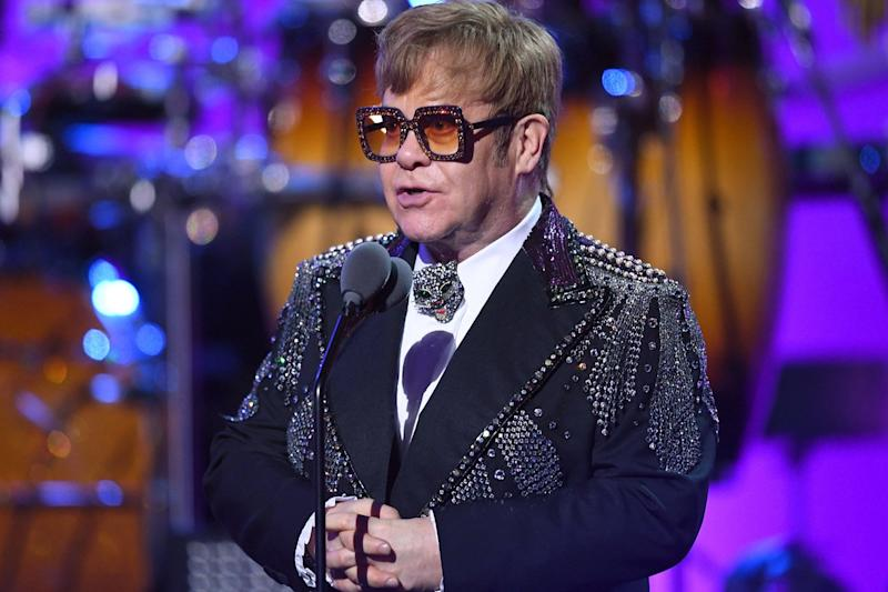 Elton John: The pop legend is set to perform at the royal wedding at the weekend, it has been reported: AFP/Getty Images