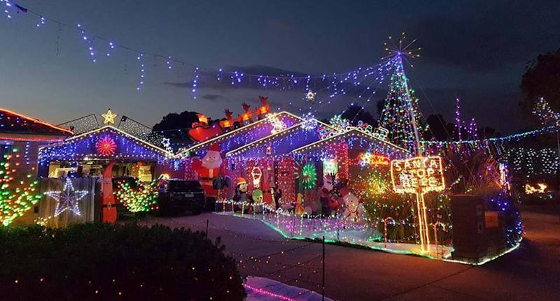 There will be no Christmas lights at Hugo Court in Narre Warren this year after Casey Council declared it an 'event'. Image: Facebook / Hugo Court Christmas Lights