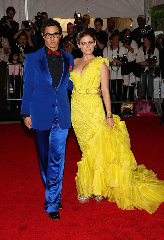 "Grover, meet Big Bird. Designer Zac Posen's blue suit was even more distracting than Kate Mara's bright yellow gown. Stephen Lovekin/<a href=""http://www.gettyimages.com/"" target=""new"">GettyImages.com</a> - May 5, 2008"