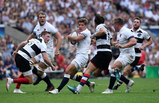 Rugby Union - England v Barbarians, Twickenham Stadium, London, Britain - May 27, 2018 England's Piers Francis in action with Barbarians' Chris Ashton (L) and Rhodri Willams Action Images via Reuters/Tony O'Brien