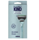 """<p><strong>Gillette</strong></p><p>gilette.com</p><p><strong>$20.00</strong></p><p><a href=""""https://go.redirectingat.com?id=74968X1596630&url=https%3A%2F%2Fgillette.com%2Fen-us%2Fproducts%2Frazors-trimmers-and-blades%2Fplanet-kind-razor&sref=https%3A%2F%2Fwww.harpersbazaar.com%2Fbeauty%2Fskin-care%2Fg36560426%2Fbest-eco-friendly-razors%2F"""" rel=""""nofollow noopener"""" target=""""_blank"""" data-ylk=""""slk:Shop Now"""" class=""""link rapid-noclick-resp"""">Shop Now</a></p><p>Gillette's Planet Kind collection is is made with 60 percent recycled plastic, and the packaging is also 85 percent recycled, and fully recyclable through Terracycle. The razors themselves have five blades for an ultra-close shave, and the easy-to-grip handle helps avoid slips and nicks.</p>"""