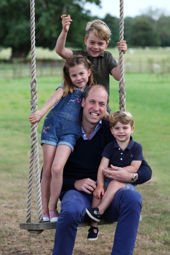 <p>To mark Father's Day 2020 for the Duke of Cambridge, the Palace released a photo of Prince William with his three children taken by Kate.</p>