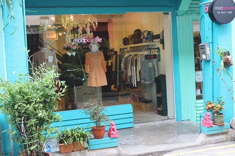 One of the alley's most well-known local boutiques is Modparade (66-68 Haji Lane) is (Image Credit: www.lifestylelaundry.com)