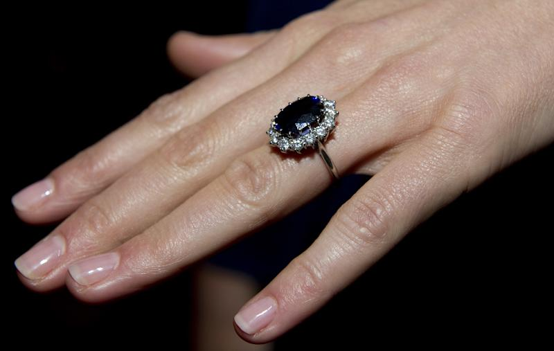 Kate Middleton's nails during her engagement announcement in 2010