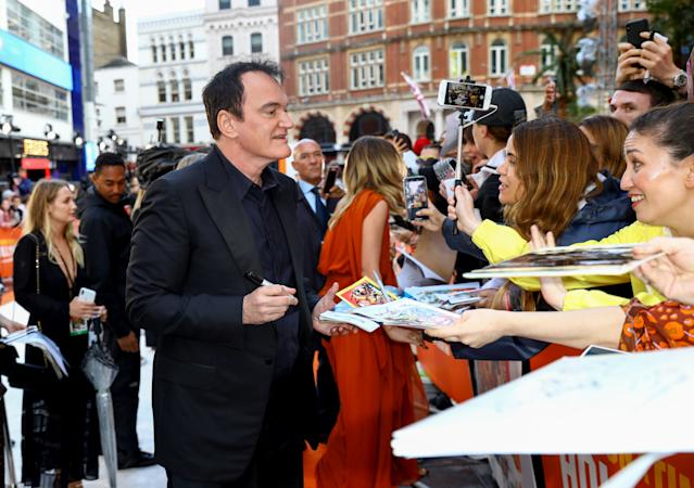 Quentin Tarantino attends the UK Premiere of Once Upon A Time...In Hollywood at Odeon Luxe Leicester Square on July 30, 2019. (Tim P. Whitby/Getty Images for Sony)