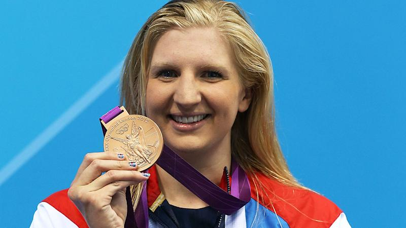 Rebecca Adlington, pictured here with her bronze medal at the 2012 Olympics in London.