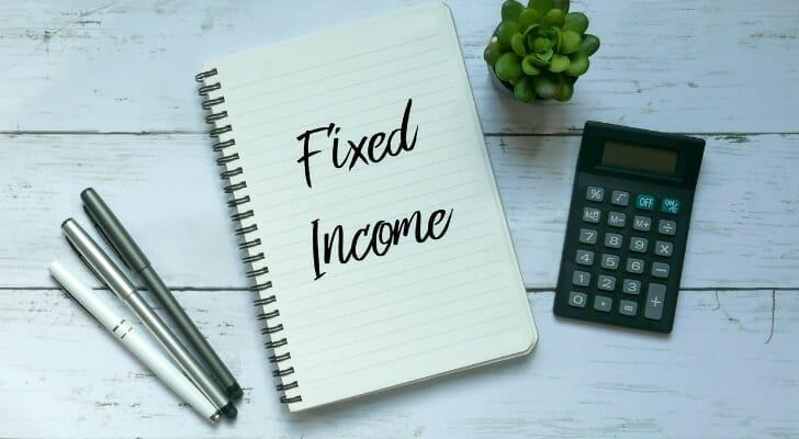 """""""Fixed Income"""" written on a sheet of notebook paper"""
