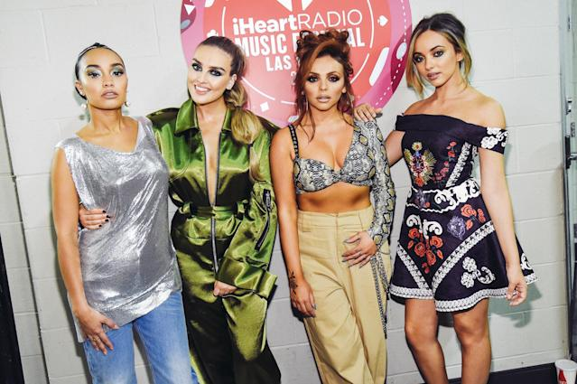 <p>LAS VEGAS, NV – SEPTEMBER 22: (L-R) Leigh-Anne Pinnock, Perrie Edwards, Jesy Nelson, and Jade Thirlwall of Little Mix attend the 2017 iHeartRadio Music Festival at T-Mobile Arena on September 22, 2017 in Las Vegas, Nevada. (Photo: Getty Images for iHeartRadio) </p>