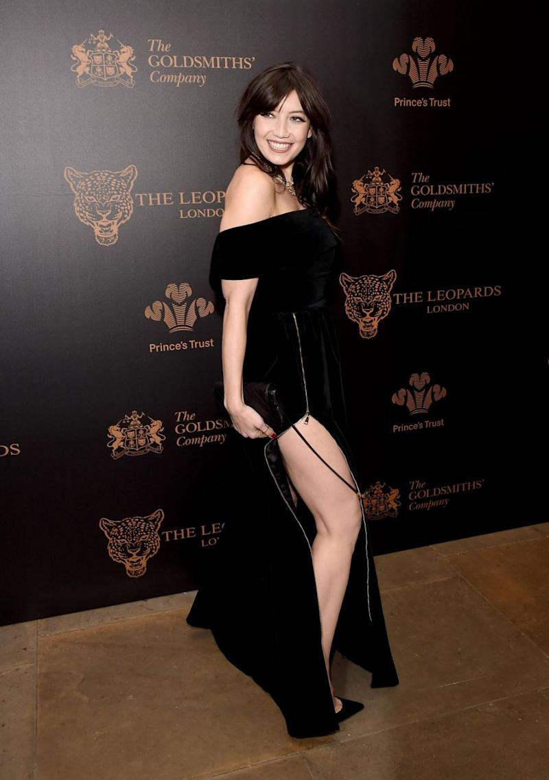 Tv star Daisy Lowe wore a very daring dress. Photo: Getty
