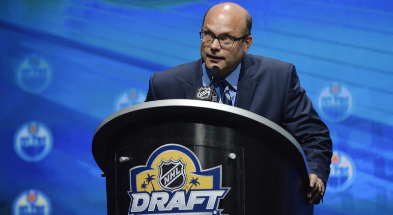 Peter Chiarelli is being interviewed for the Minnesota Wild's general manager vacancy. (Steve Mitchell-USA TODAY Sports)