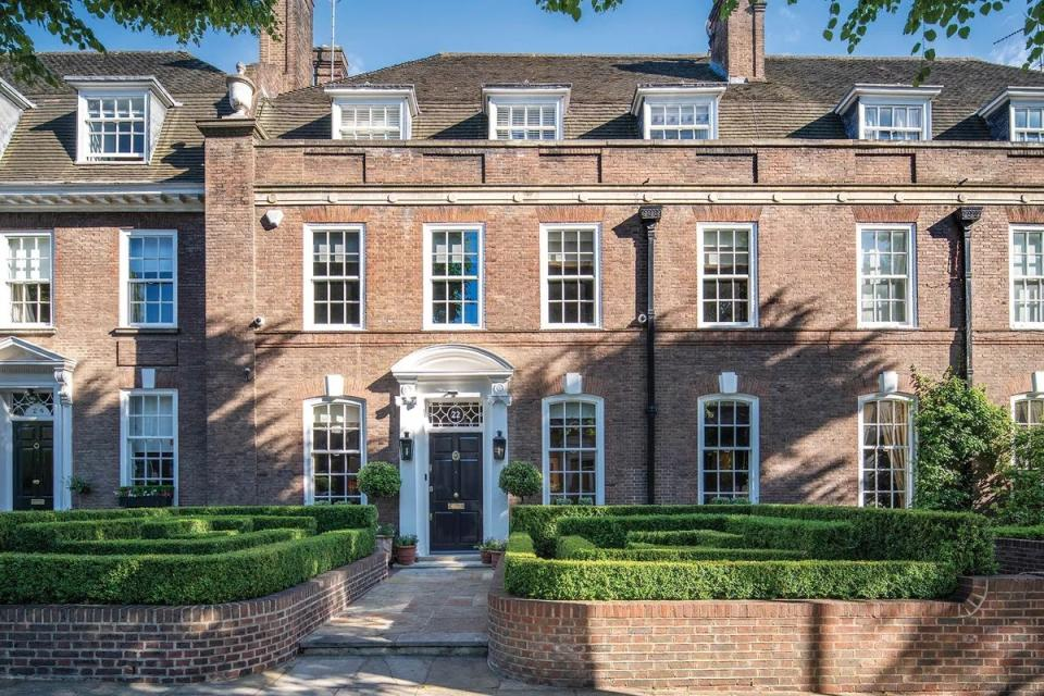 A seven- bed terraced house in Ilchester Place, London on sale for £21.5m. Photo: Zoopla
