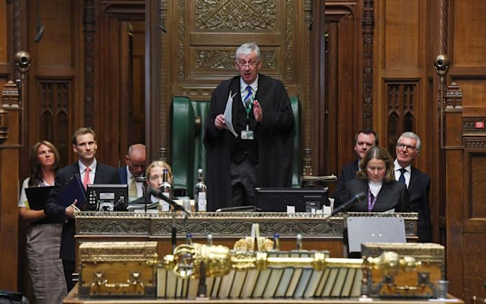 A handout photo made available by the UK Parliament shows Speaker of the House of Commons Lindsay Hoyle during the Prime Minister's Questions - Jessica Taylor/UK Parliament/Handout/EPA-EFE/Shutterstock
