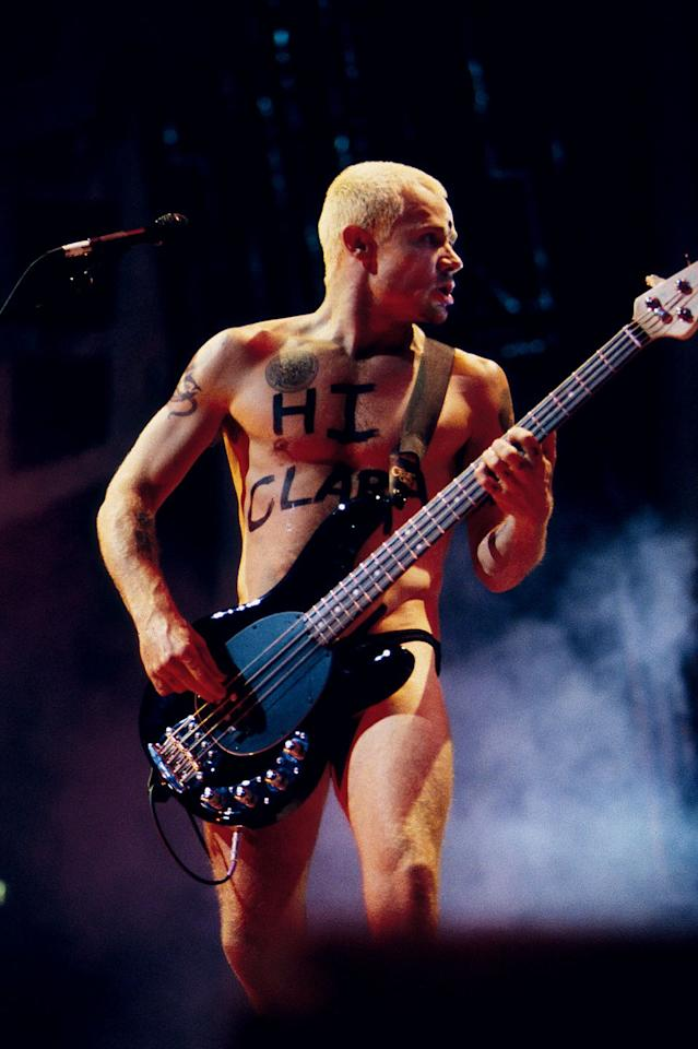 <p>In 1995, Flea, the bassist for the Red Hot Chili Peppers, went on stage to perform at the Movie Awards wearing basically nothing except for small black underwear. An interesting statement, indeed! </p>
