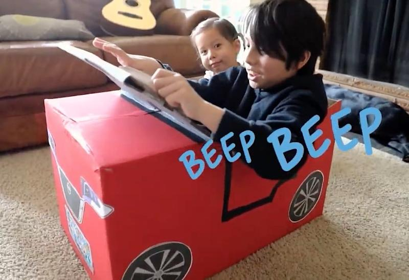 The all-new Nissan Kidster is a cardboard car for children