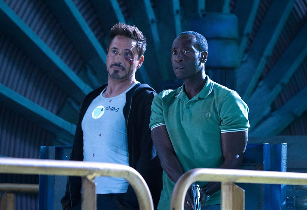"Robert Downey Jr. and Don Cheadle in Marvel Studios' ""Iron Man 3"" - 2013"