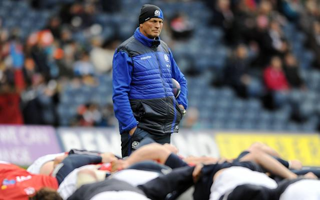 <span>Vern Cotter will coach Scotland for the final time against Italy</span> <span>Credit: REX FEATURES </span>