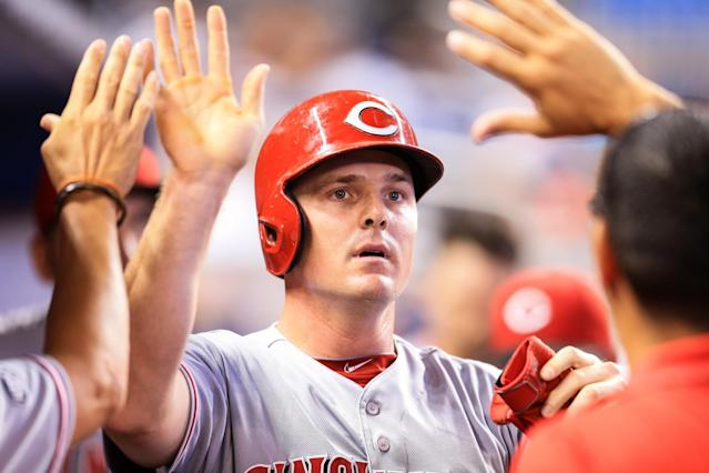 Jay Bruce's slugging percentage is .547, 10th in the National League. (Getty Images)
