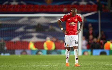 ashley young is sad - Credit: GETTY IMAGES