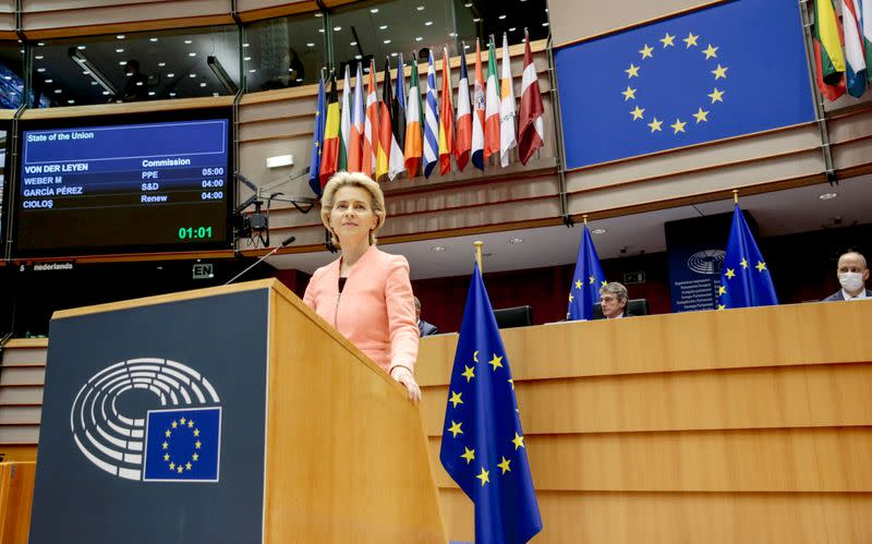 'Be courageous' to stand up to Russia, Turkey, EU executive says