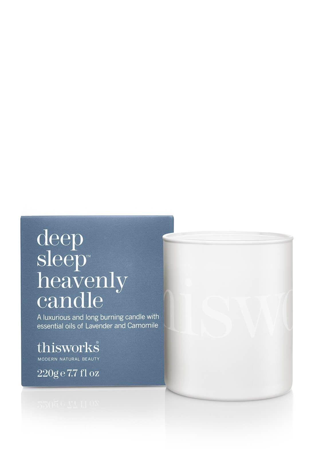 "<p><strong>The Gift: Deep Sleep Candle</strong><br>Share the gift of deeper sleep with a candle that's hand-blended from lavender and chamomile essential oils for a deeply soothing and calming effect.</p> <br> <br> <strong>This Works</strong> deep sleep heavenly candle, $46, available at <a href=""https://www.thisworks.com/us/deep-sleep-heavenly-candle.html"" rel=""nofollow noopener"" target=""_blank"" data-ylk=""slk:This Works"" class=""link rapid-noclick-resp"">This Works</a>"