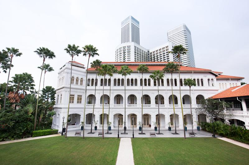 Nick Young and Rachel Chu's hotel scenes are filmed at the iconic Raffles hotel on Beach Road. Source: Singapore Tourism Board, The ultimate Crazy Rich Asians guide to Singapore