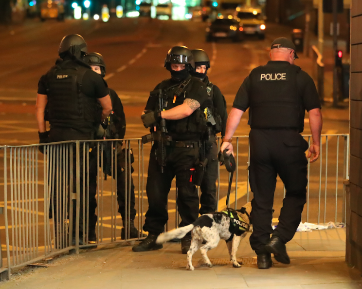 Police are trying to determine whether the terrorist was working alone (PA)