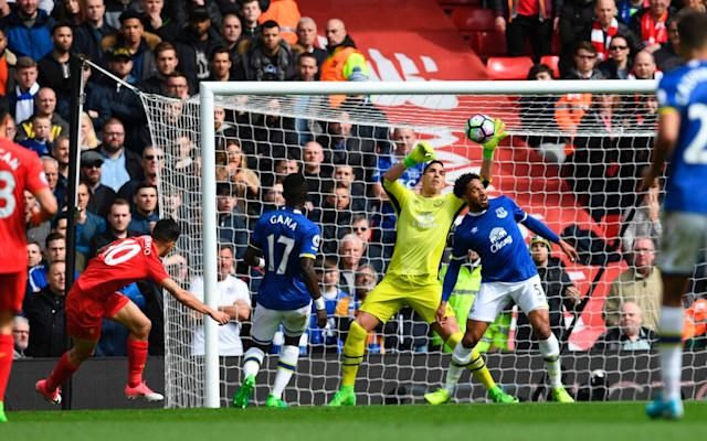 <span>Philippe Coutinho saw his first effort saved by Joel Robles before he scored Liverpool's second</span>