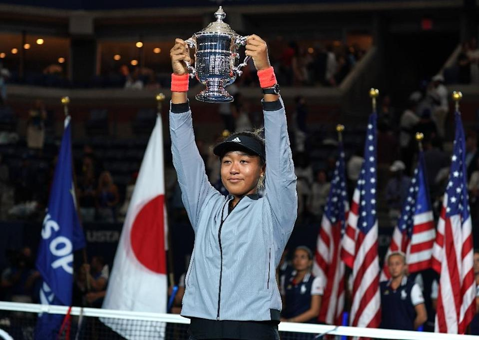 Naomi Osaka is the first Japanese to win a Grand Slam singles title (AFP Photo/TIMOTHY A. CLARY)