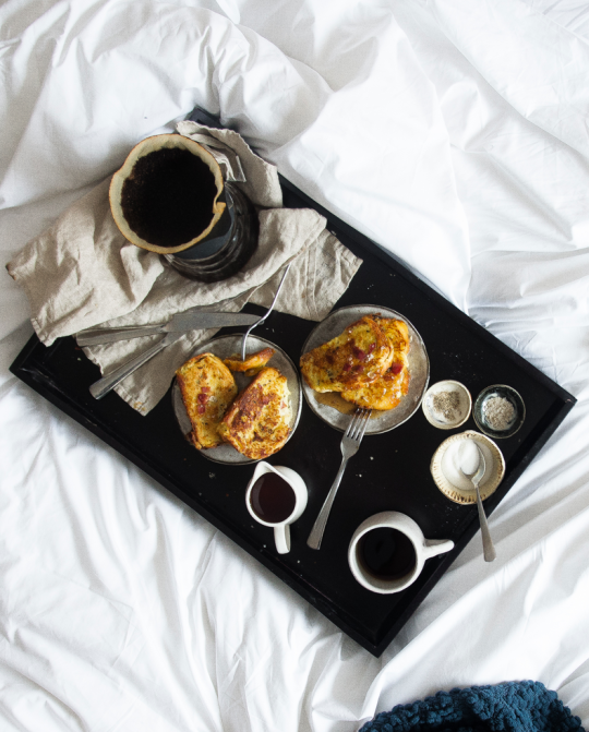 Bacon and cheese stuffed french toast recipe from two red bowls here cynthia of two red bowls reminds us that its important to have breakfast in bed once in awhile with a decadent bacon and cheese stuffed french toast ccuart Image collections