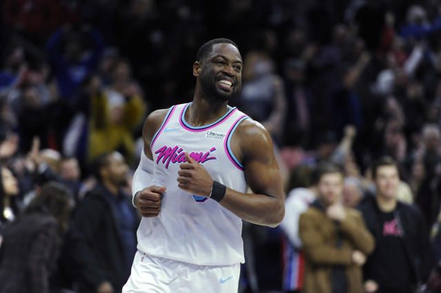 Dwyane Wade has dedicated his season to a victim of the Marjory Stoneman Douglas High School massacre. (AP)