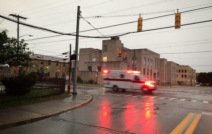 An ambulance responding to a call in Point Pleasant, W.V. (Photo: Holly Bailey/Yahoo News)