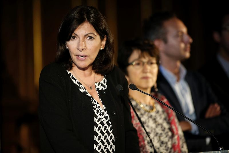 Mayor of Paris Anne Hidalgo outlines plans fo an official camp to welcome migrants, on May 31, 2016 in Paris (AFP Photo/Mattieu Alexandre)