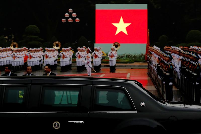 Military personnel with the White House Communications Agency are under investigation after alleged improper contact with women in Vietnam. (Jonathan Ernst / Reuters)