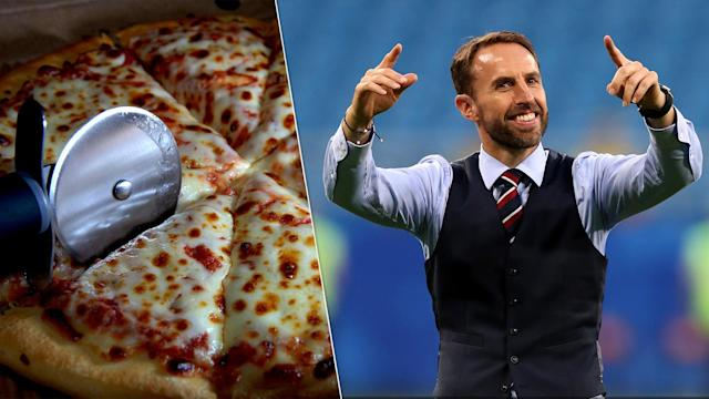 Gareth Southgate has been promised free pizza for life.
