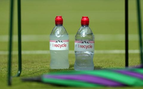 Evian is trialling 100% recycled bottles - Credit: SPORTSPHOTO LTD