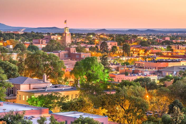 Santa Fe, New Mexico, offers plenty antiquing opportunities and art galleries- probably than the average city.