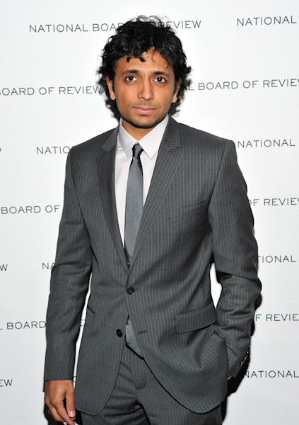 "FILE - In this Jan. 11, 2011 file photo, Filmmaker M. Night Shyamalan attends The National Board of Review of Motion Pictures awards gala at Cipriani's 42nd Street, in New York. Fox is taking a page from HBO and scheduling some ""big event"" series. The network's entertainment chief, Kevin Reilly, said Tuesday, Jan. 8, 2013, that Fox wants to order some short series of around a dozen episodes or less, much like the cable network does. Fox announced a development deal with producer, M. Night Shyamalan for ""Wayward Pines,"" a thriller Reilly compare to ""Twin Peaks."" (AP Photo/Evan Agostini, File)"