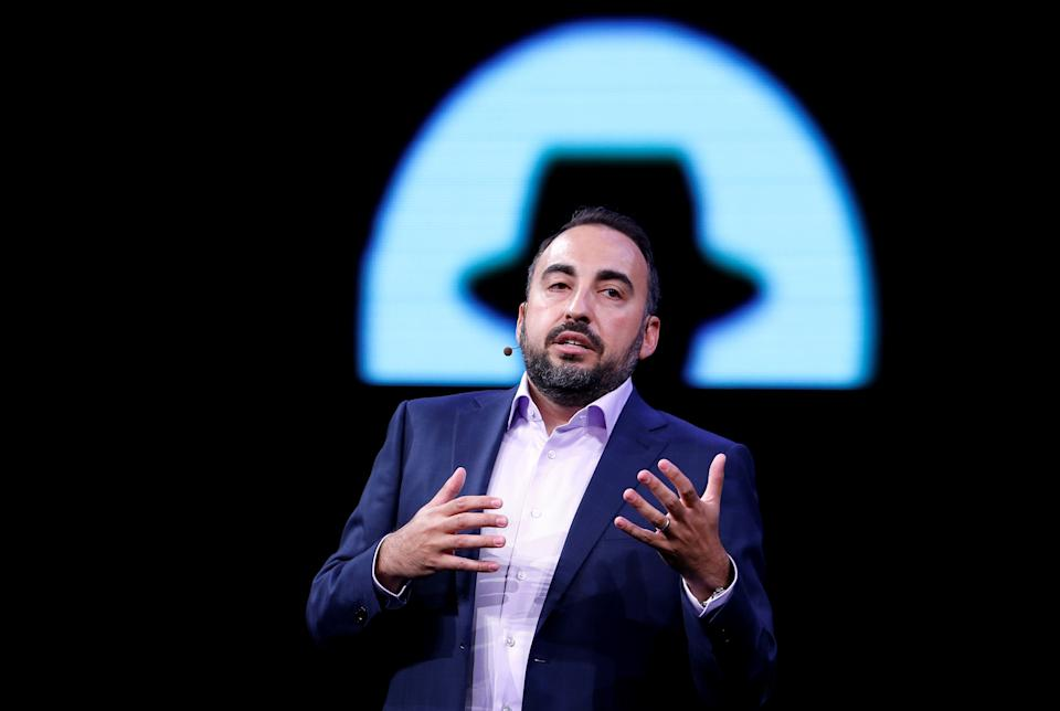 Facebook Chief Security Officer Alex Stamos gives a keynote address during the Black Hat information security conference in Las Vegas, Nevada, U.S. July 26, 2017. REUTERS/Steve Marcus