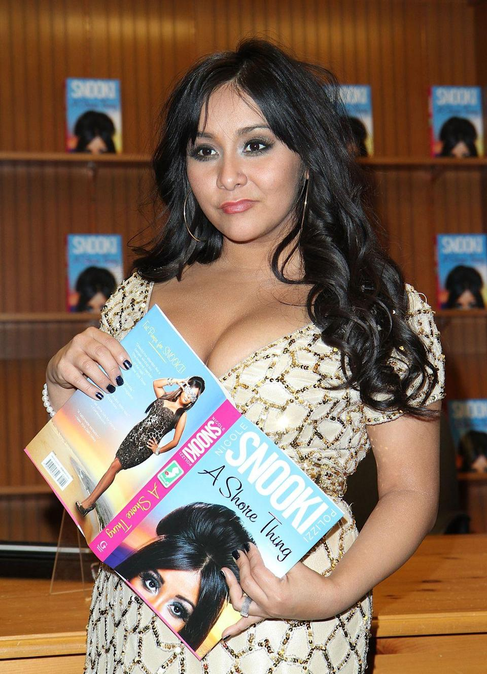"<p>The life of Nicole ""Snooki"" Polizzi may have seen like it was stranger than fiction at times, but the Jersey Shore star published her novel in 2011. Set in a place that Snooki is more than a little familiar with, Seaside Heights, N.J., <em>A Shore Thing</em> tells the story of Gia Spumanti, a party girl who is focused on having a sexy summer. </p><p>But despite the seemingly familiar plot, Snooki told <a href=""https://www.reuters.com/article/us-books-snooki/jersey-shore-star-snooki-turns-novelist-idUSTRE70A61520110111"" rel=""nofollow noopener"" target=""_blank"" data-ylk=""slk:Reuters"" class=""link rapid-noclick-resp"">Reuters</a> she felt like she kept people on their toes in other ways. ""I didn't want to do what everybody expected me to do, like an autobiography, or how to be a guidette,"" she said. ""I wanted to surprise everybody, so I did a novel.""</p><p>Unfortunately, <a href=""https://www.hollywoodreporter.com/news/loads-promotion-snookis-book-low-sales-76611"" rel=""nofollow noopener"" target=""_blank"" data-ylk=""slk:low book sales"" class=""link rapid-noclick-resp"">low book sales</a> didn't end up turning G-T-L (Gym, Tan, Laundry) into G-T-R (Gym, Tan, Read A Book). </p><p><a class=""link rapid-noclick-resp"" href=""https://www.amazon.com/Shore-Thing-Nicole-Snooki-Polizzi/dp/1451623747/ref=sr_1_2?dchild=1&keywords=a+shore+thing&qid=1599798574&s=books&sr=1-2&tag=syn-yahoo-20&ascsubtag=%5Bartid%7C2139.g.34385633%5Bsrc%7Cyahoo-us"" rel=""nofollow noopener"" target=""_blank"" data-ylk=""slk:Buy the Book"">Buy the Book</a></p>"