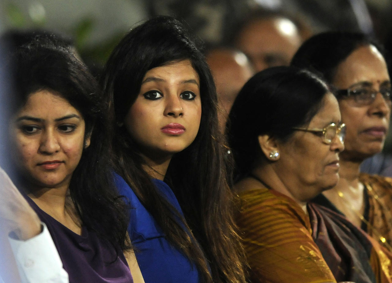 Shakshi Dhoni wife of Mahendra Singh Dhoni captain of India watches the match during the fourth Star Sports Series One Day International (ODI) between India and Australia held at the JSCA International Cricket Stadium, Ranchi on the 23rd October 2013  Photo by Pal Pillai - BCCI - SPORTZPICS    Use of this image is subject to the terms and conditions as outlined by the BCCI. These terms can be found by following this link:  https://ec.yimg.com/ec?url=http%3a%2f%2fsportzpics.photoshelter.com%2fgallery%2fBCCI-Image-terms-and-conditions%2fG00004IIt7eWyCv4%2fC0000ubZaQCkIRgQ&t=1506042951&sig=UGO7vbSIfkdMHU3dOJTMeg--~D