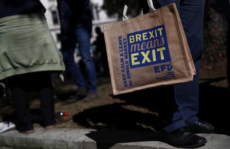 Pro-Brexit demonstrators protest outside the Supreme Court in London
